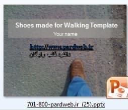 قالب پاورپوینت کفش