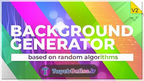 دانلود پروژه آماده افتر افکت : Background Generator