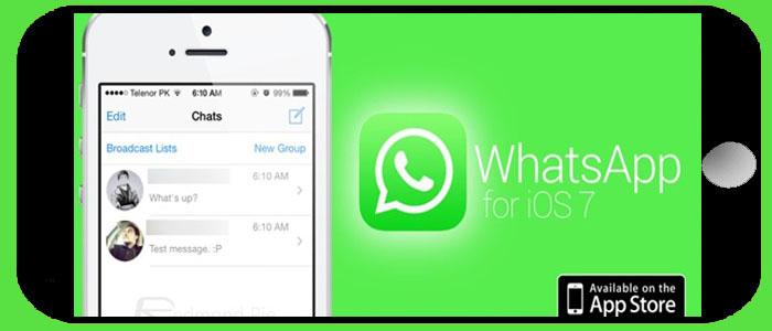 دانلود واتساپ برای آی او اس ios 7 آیفون whatsapp