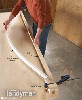 ایده گرد کردن چوب  با گیره