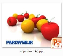 زمینه پاورپوینت سیب و پرتقال