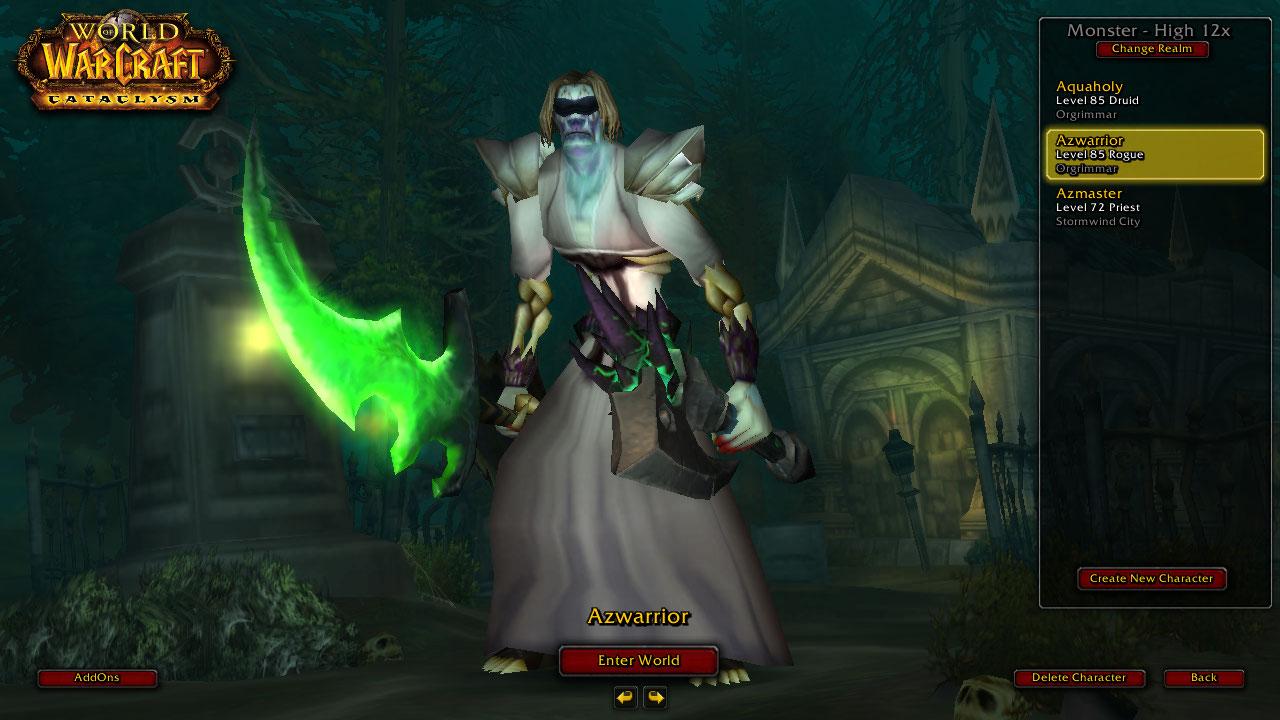 فروش اکانت - کلاس Rouge + Druid - سرور Monster-wow.com