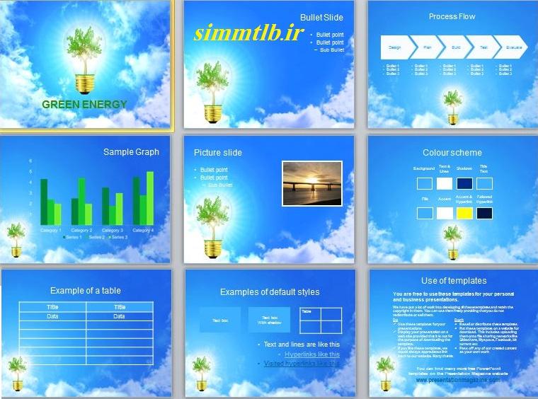 نمونه اسلایدهای بعضی از تم ها و قالب های این مجموعه فایل دانلود قالب های پاورپوینت رشته برق،اکترونیک و مخابرات