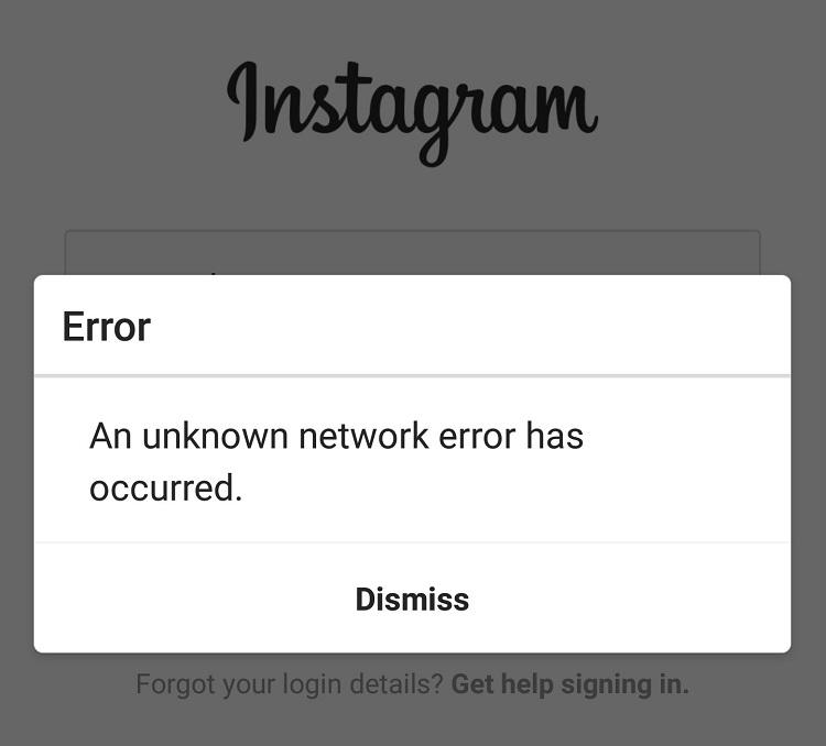آموزش تصویری رفع خطای An Unknown network error has occurred در اینستاگرام