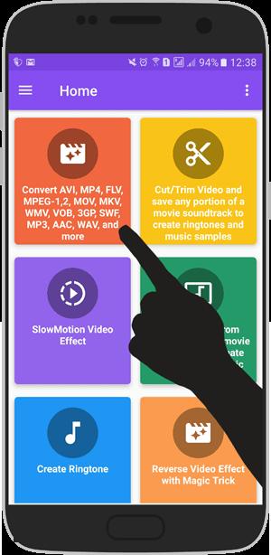 آموزش تصویری عوض کردن پسوند فیلم + تبدیل فرمت فیلم در اندروید