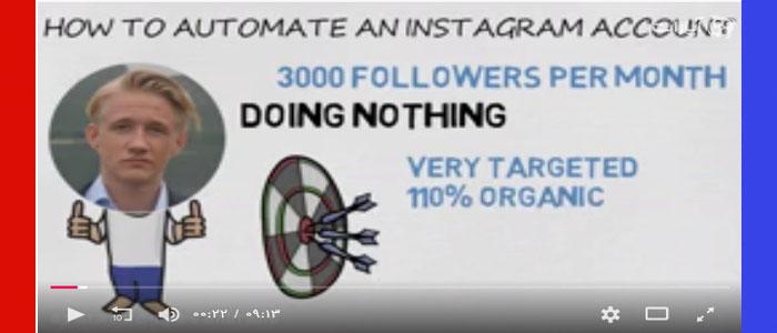 فیلم آموزشی اتوماتیک کردن اکانت اینستاگرام برای کسب و کار