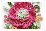 آموزش بافت گل قلاب بافی بسیار زیبا