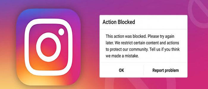 رفع مشکل خارج شدن از بلاک کامنت و لایک (Action Block) اینستاگرام