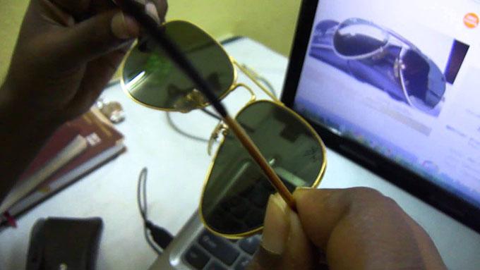 عینک ریبن شیشه سنگی