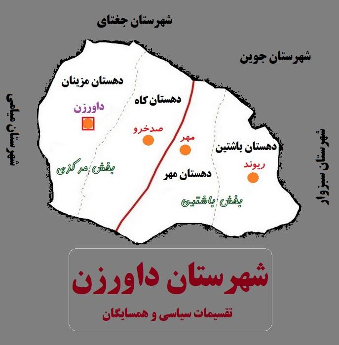 شهرستان داورزن استان خراسان رضوی