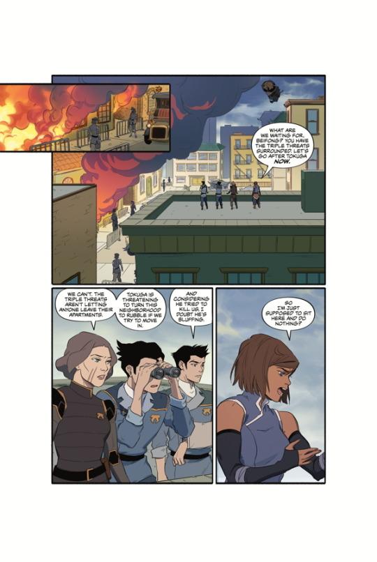 چند صفحه از کمیک های کورا