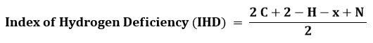 فرمول ضریب کمبود هیدروژن