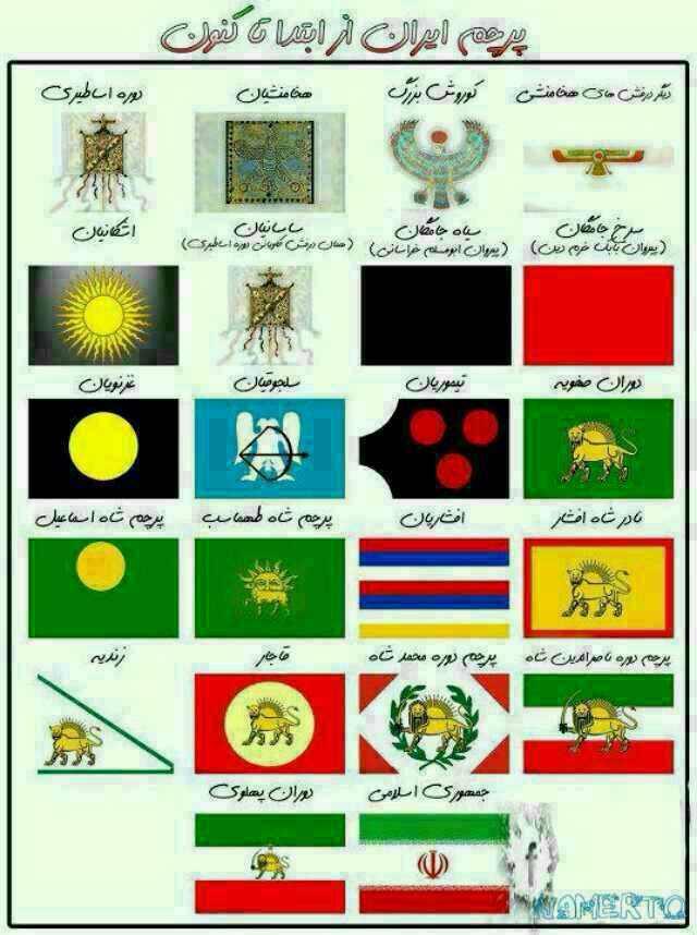 پرچم ایران از آغاز تا کنون