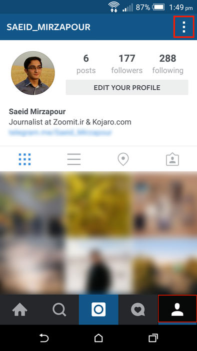 آموزش تصویری غیر فعال کردن پخش خودکار ویدیو در اینستاگرام