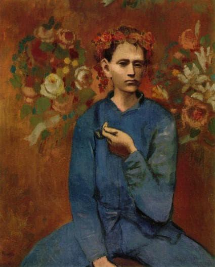 تابلوی پسری با پیپ از پیکاسو - Boy with a Pipe by Picasso