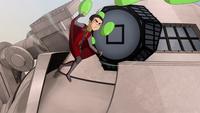 میلو درحال پرتاب بادکنک پر از رنگ به مکاتاک