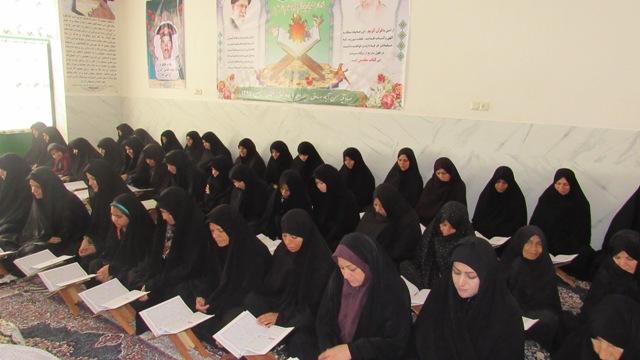 آخرین جلسه ختم30 جزء قرآن خواهران در روستای حسن آباد صادق الائمه علیه السلام