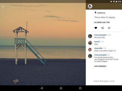 کلاینت اینستاگرام برای تبلت اندروید Imagine for Instagram