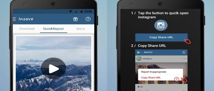اپلیکیشن Insave برای دانلود و پست مجدد تصاویر و ویدئوها در اینستاگرام