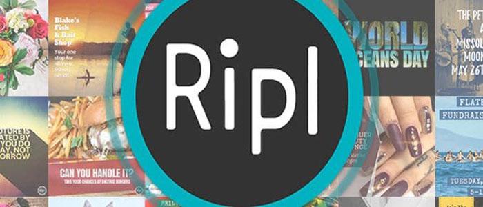 برنامه ی Ripl برای پست های تبلیغاتی در استوری اینستاگرام