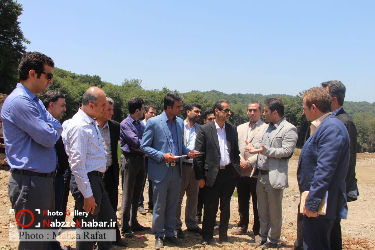 گزارش تصویری از بازدید فرماندار رشت از محل دفن زباله سراوان