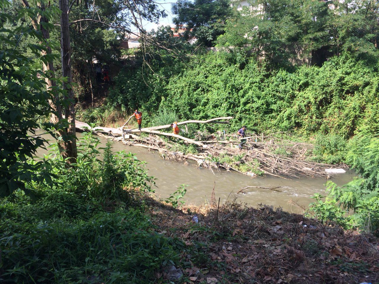ادامه پاکسازی حاشیه رودخانه های شهر رشت