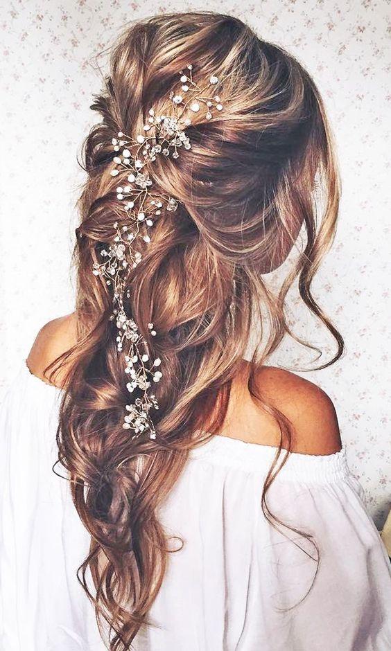 مدل موی باز ساده برای عروسی  مدل مو باز عروس 2017  مدل موی باز مجلسی مدل موی باز برای عروس گیره ی موی عروس مدل مو زیبا برای عروس باز جشن عروسی کدل مو جدید عروس مدل مو عروس 2018