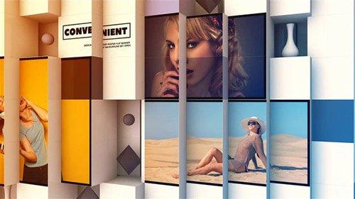 پروژه آماده افترافکت : 3D Abstract Cube Display