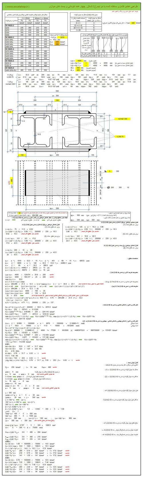 آموزش طراحی ستون های شبک در سازه های فولادی