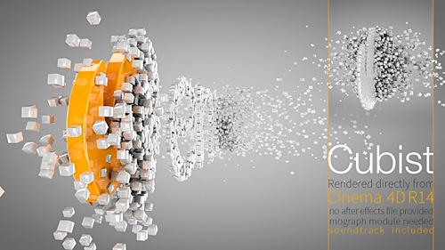 دانلود رایگان پروژه آماده Cubist C4D Logo Animation - Cinema 4D Templates