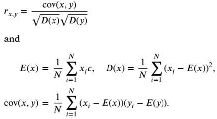 فرمول ضریب همبستگی
