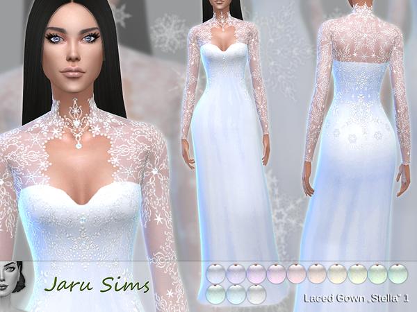 لباس مجلسی لباس سیمز 4 لباس عروسی سیمز 4 دانلود لباس عروسی سیمز 4 سیمز 4 لباس