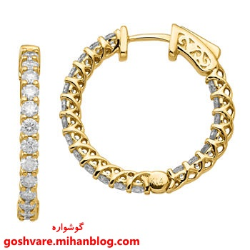 گوشواره حلقه ای طلا
