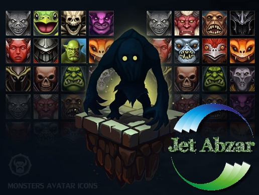 پکیج Monsters Avatar Icons