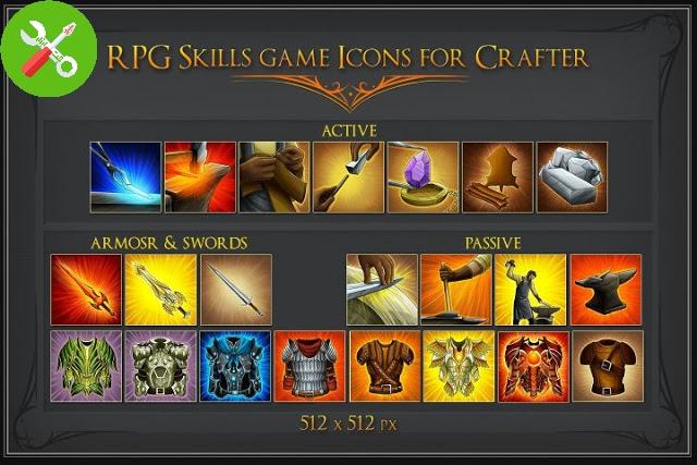 مجموعه آیکون برای طراحی و بازی