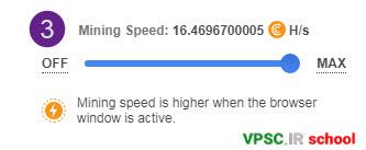 CryptoTab Mining Speed Settings