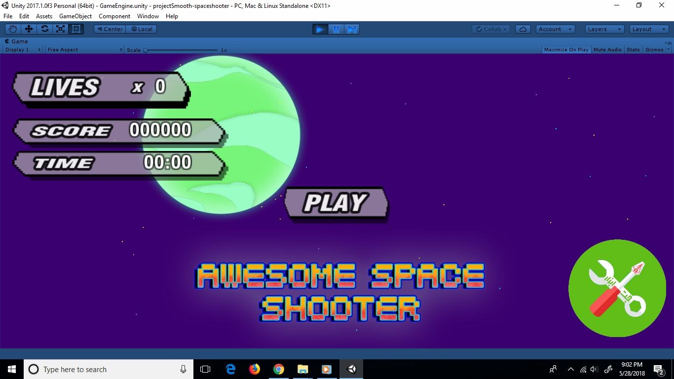 پروژه کامل SPACE SHOOTER