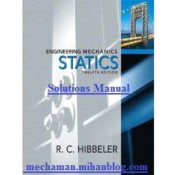 دانلود رایگان حل المسائل استاتیک هیبلر ویرایش 10