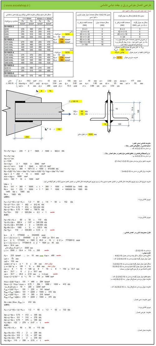 آموزش طراحی اتصالات خرپایی