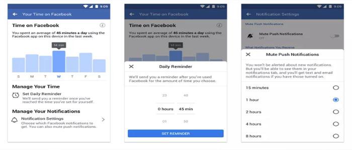 اینستاگرام و فیسبوک مدیریت زمان در برنامه خود را به شما میسپارند