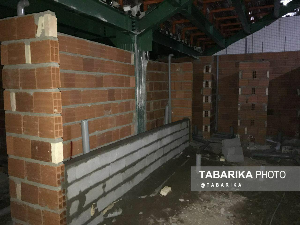گزارشی از آخرین وضعیت ساخت و ساز زیر سکوی شرقی + عکس