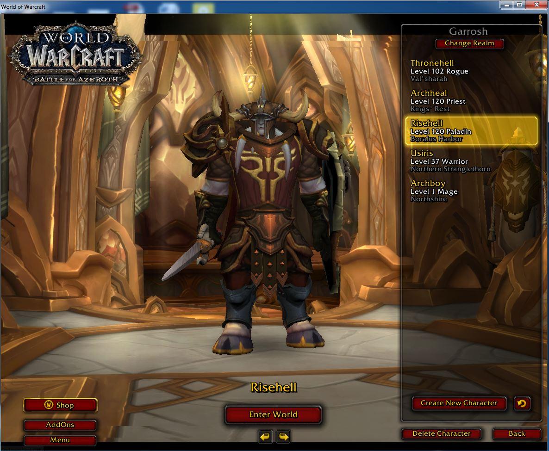 فروش اکانت - کاربر usiris - کلاس هیرو paladin + Rogue + priest - سرور Battle.net
