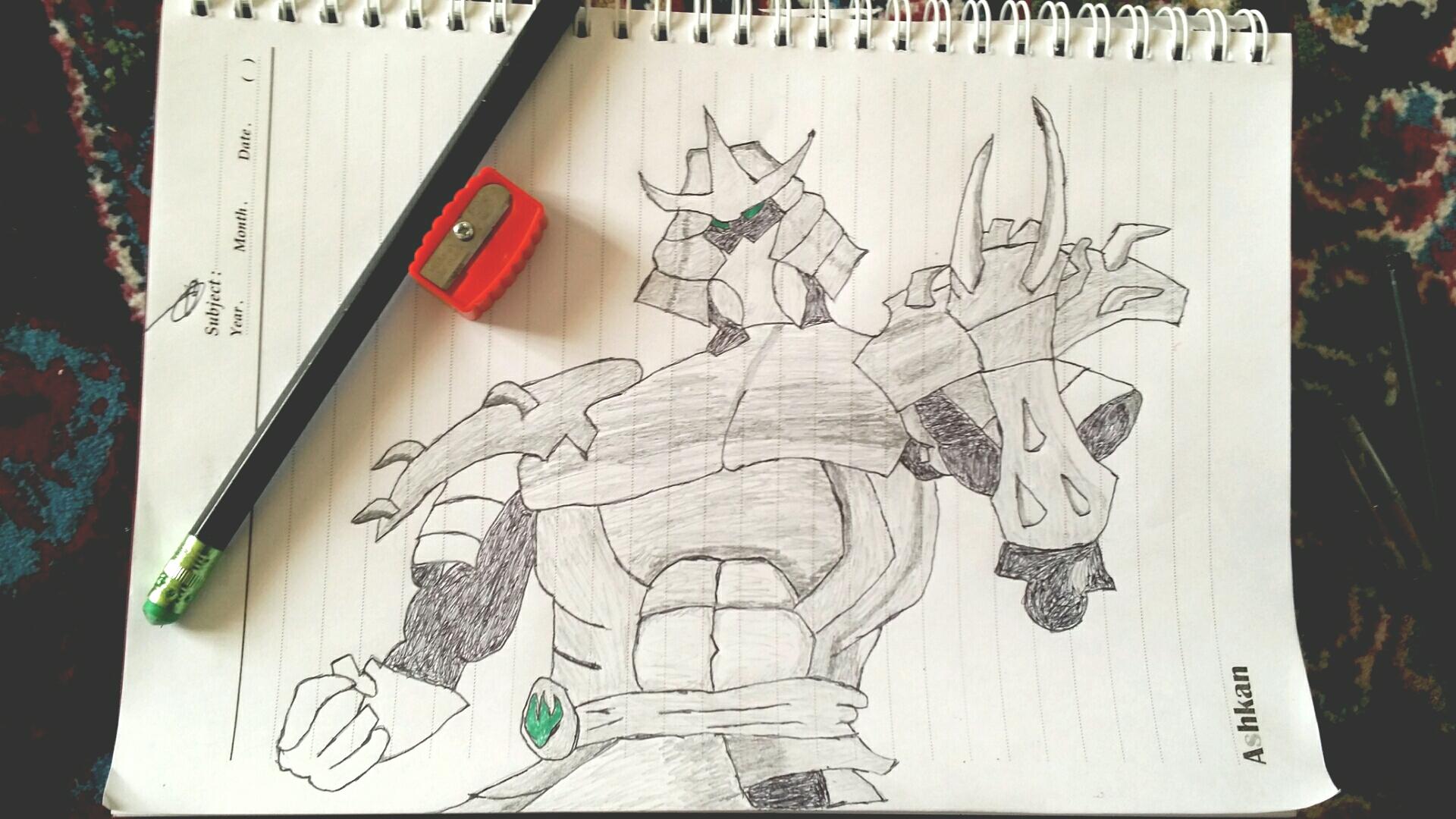 نقاشی سیاه قلم من