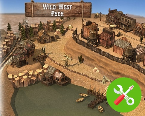 محیط یونیتی WRP Wild West Asset Pack