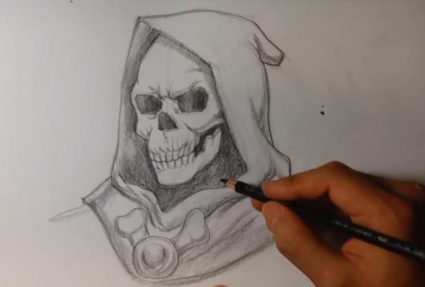 نقاشی چهره اسکلت