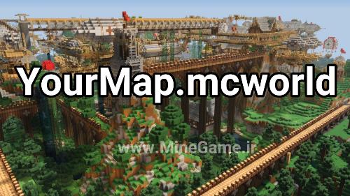 آموزش ساخت مپ با فرمت mcworld در سه گام ساده
