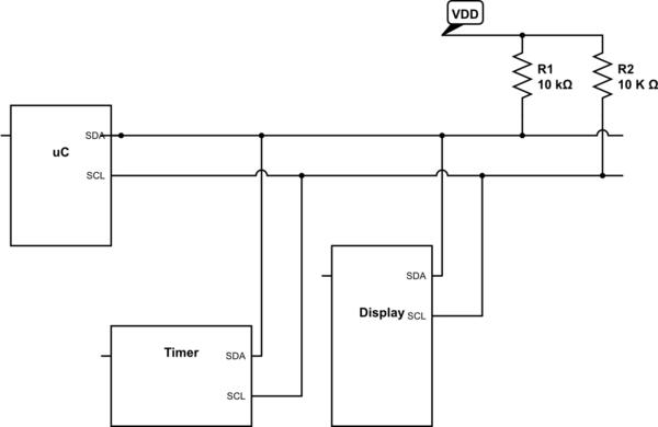 اتصال 2 یا چند ماژول I2C به میکرو