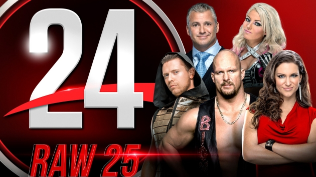 WWE 24 'RAW 25th Anniversary' Documentary - Logo