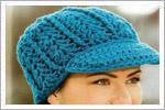 کلاه قلاب بافی لبه دار دخترانه