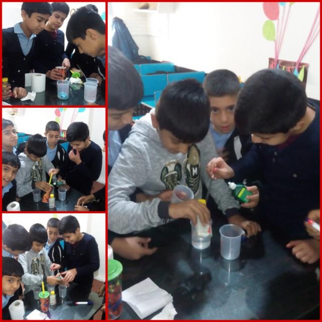 با توضیح یک آزمایش چگونگی اثر آب اکسیژنه برای رنگ بری را شرح دهید